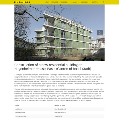 Construction of a new residential building on Hegenheimerstrasse, Basel (Canton of Basel-Stadt) | Drupal