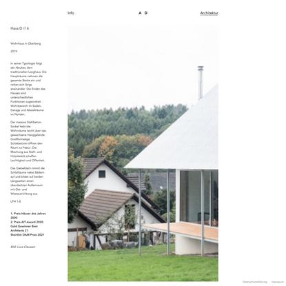 Haus D // 6   Aretz Dürr Architektur BDA