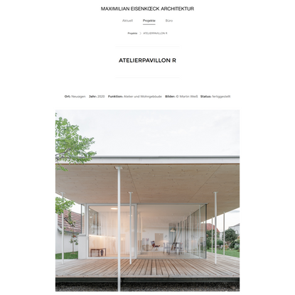 ATELIERPAVILLON R - Maximilian Eisenköck Architektur