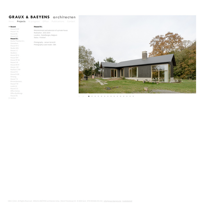 GBA   Projects     Recent   House B-L