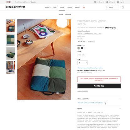 Peace Cabin 'Ennis' Cushion