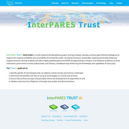 InterPARES Trust AI - Artificial Intelligence