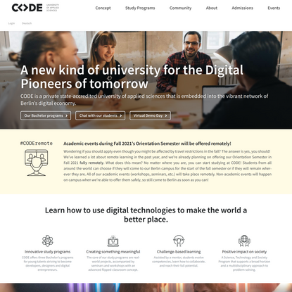 CODE – University of Applied Sciences