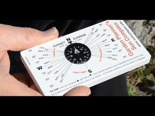 The garden planner's Sun compass - a cheap and reliable time machine!