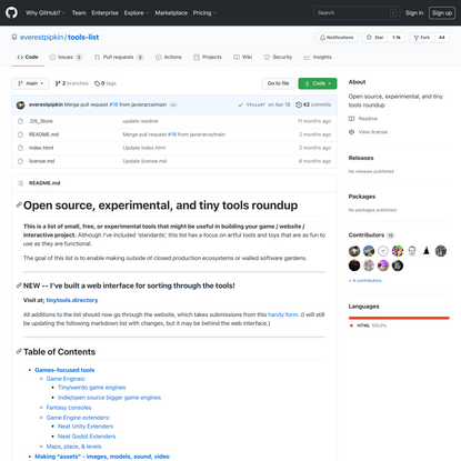 open source, experimental, and tiny tools roundup — Everest Pipkin