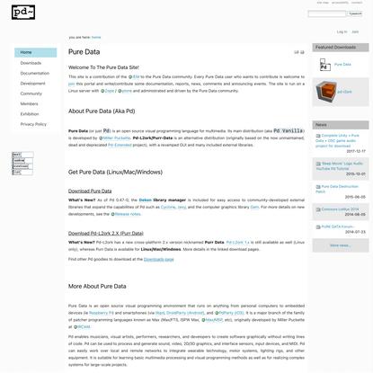 Pure Data — Pd Community Site
