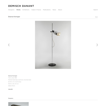 Étienne Fermigier - Works - Demisch Danant