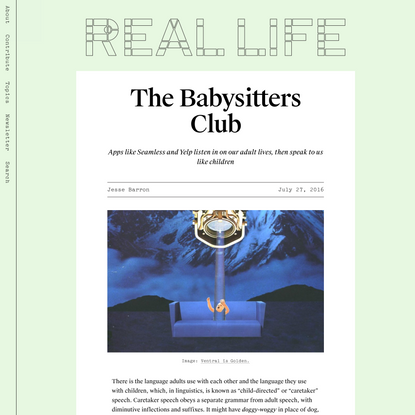 The Babysitters Club — Real Life