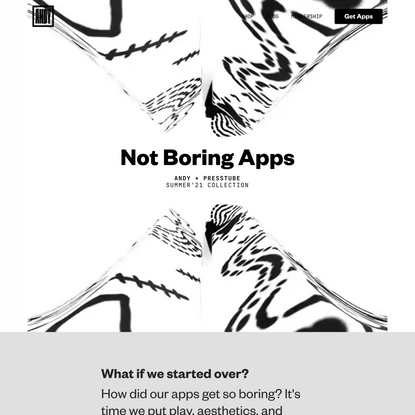 ANDY   Not Boring Apps