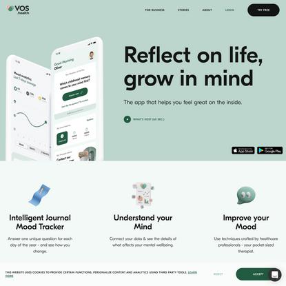 VOS: Wellbeing & Intelligent Journal - Home