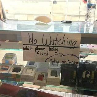 No watching