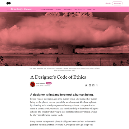 A Designer's Code of Ethics