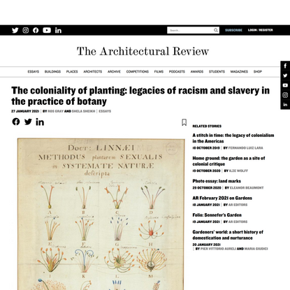 The coloniality of planting: legacies of racism and slavery in the practice of botany - Architectural Review