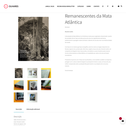 Ricardo Cardim - Remanescentes da Mata Atlântica - Editora Olhares