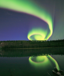 aurora spiral captured by David Cartier.