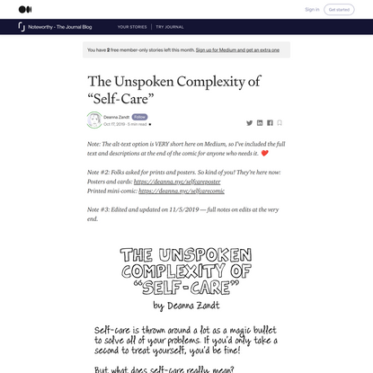 """The Unspoken Complexity of """"Self-Care"""""""