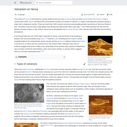 Volcanism on Venus - Wikipedia