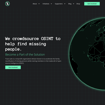 Trace Labs | Crowdsourced OSINT to Find Missing People