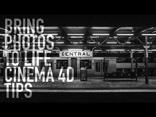 Cinema 4D tutorial - Camera projection