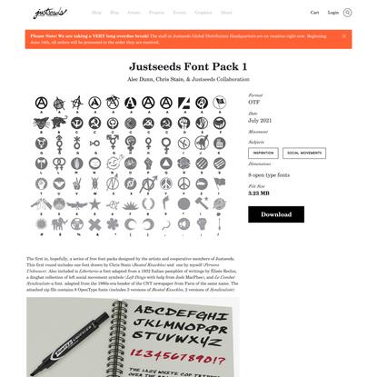 Justseeds | Justseeds Font Pack 1