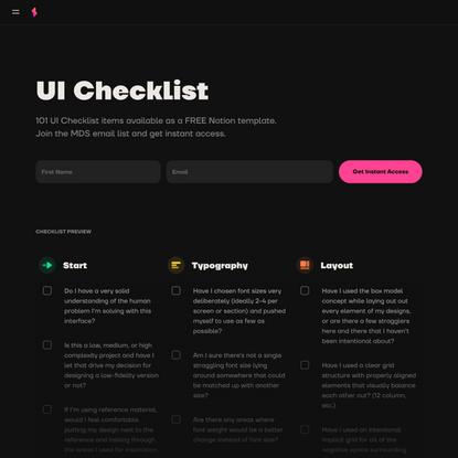 Shift Nudge – UI Checklist