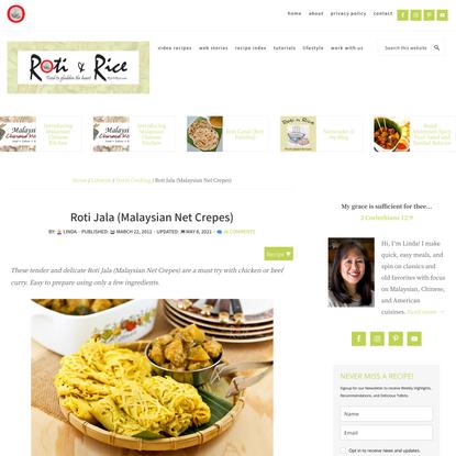 Roti Jala (Malaysian Net Crepes)