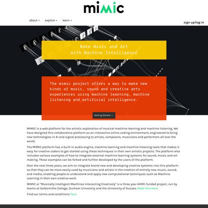MIMIC Creative AI Platform