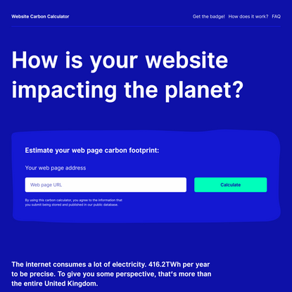 Website Carbon Calculator | How is your website impacting the planet?