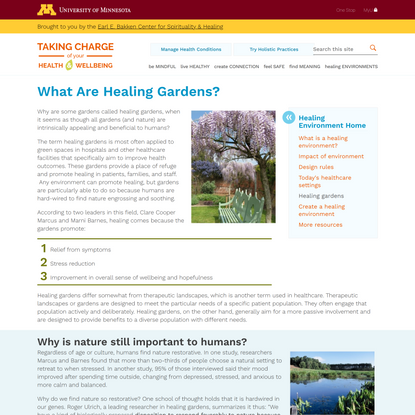 What Are Healing Gardens? | Taking Charge of Your Health & Wellbeing