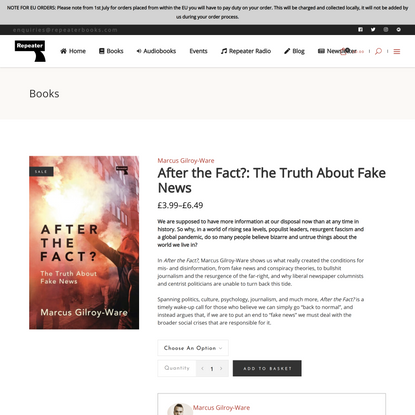 After the Fact?: The Truth About Fake News - Repeater Books