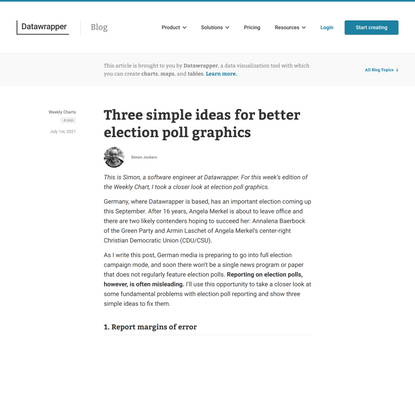 Three simple ideas for better election poll graphics - Datawrapper Blog
