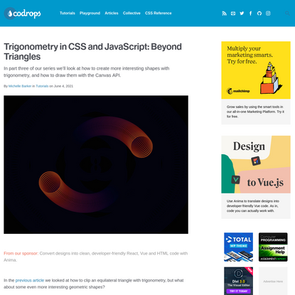 Trigonometry in CSS and JavaScript: Beyond Triangles | Codrops