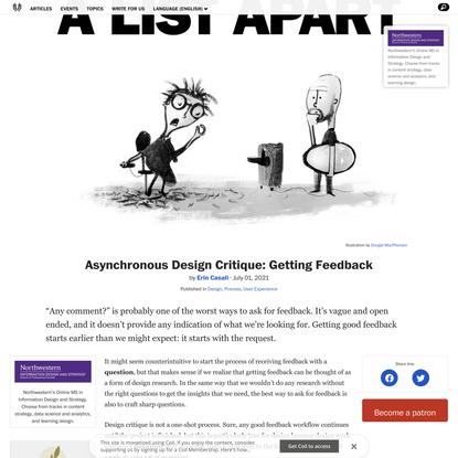 Asynchronous Design Critique: Getting Feedback