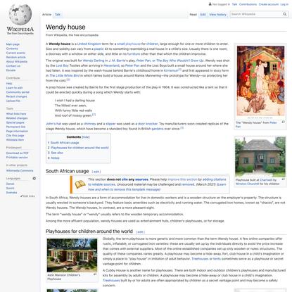 Wendy house - Wikipedia