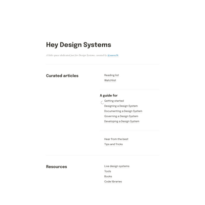 Hey Design Systems!