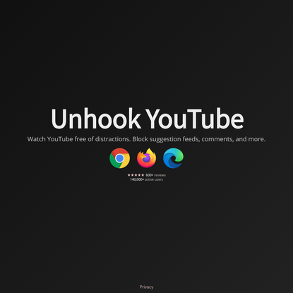 Unhook - Remove YouTube Recommended Videos and More