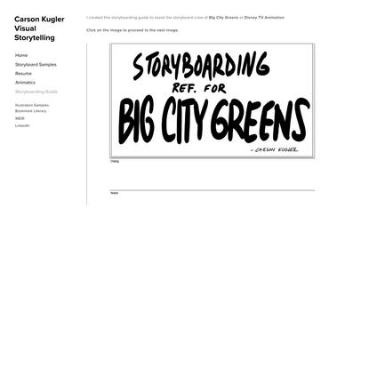 Storyboarding Guide — Carson Kugler Visual Storytelling