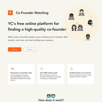 Y Combinator's Co-Founder Matching on Startup School