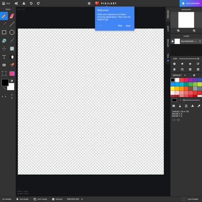 Make pixel art online - Pixilart