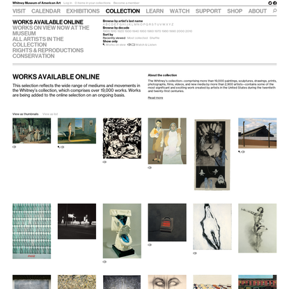 Whitney Museum of American Art: Collection