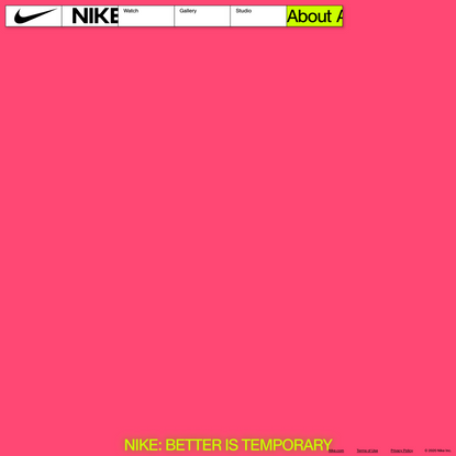 Nike: Better is Temporary