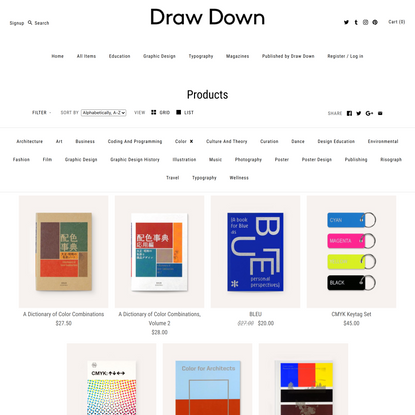 """Products – Tagged """"Color"""" – Draw Down"""