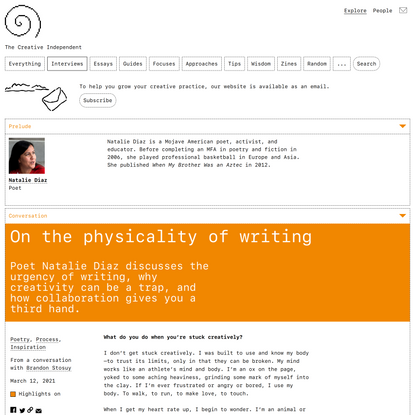 On the physicality of writing