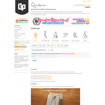 Quickposes: pose library for figure & gesture drawing practice