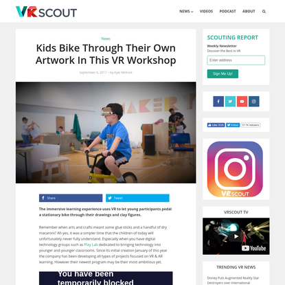 Kids Bike Through Their Own Artwork In This VR Workshop - VRScout