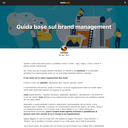 Guida base sul brand management | TechSoup Italy