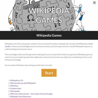 Wikipedia Games