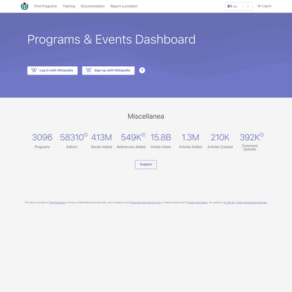 Programs & Events Dashboard
