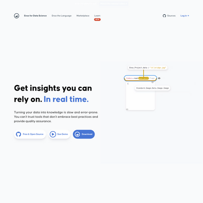 Enso   Get insights you can rely on. In real time.