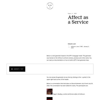 Affect as a Service